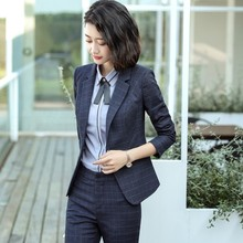 Professional suit suit women's autumn fashion temperament interview formal OL suit pants overalls overalls