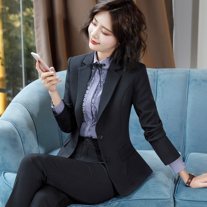 2020 new workwear womens suit suit fashion temperament is dressed college students interview suit workwear