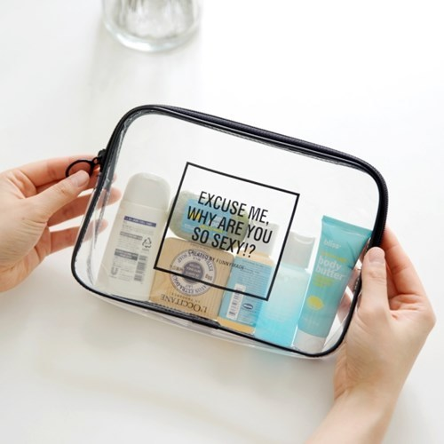 Travel cosmetics bag portable travel men and women water-proof wash gargle transparent small portable bathroom bag