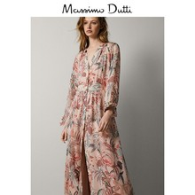 Massimo Dutti women's floral print dress 06658824625
