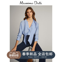 Massimo Dutti womens early spring new season knot womens shirt tops 05170783404