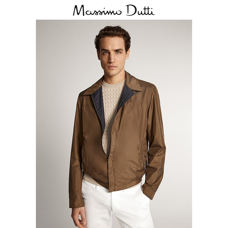 Mid season discount Massimo dutti men's wear mall same new double-sided cotton technology jacket 03427247401