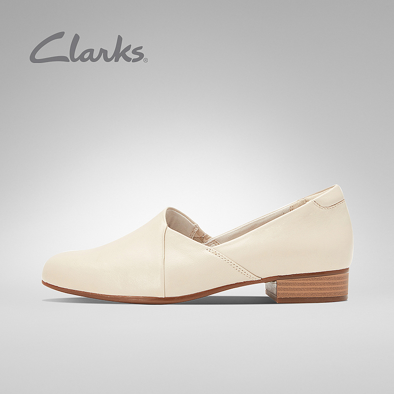 Clarks Qile women's shoes spring 2020 continuation Juliet palm retro elegant single square heel small leather shoes