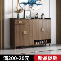 Shoe cabinet New Chinese style simple modern household door balcony storage cabinet Storage living room entrance foyer cabinet