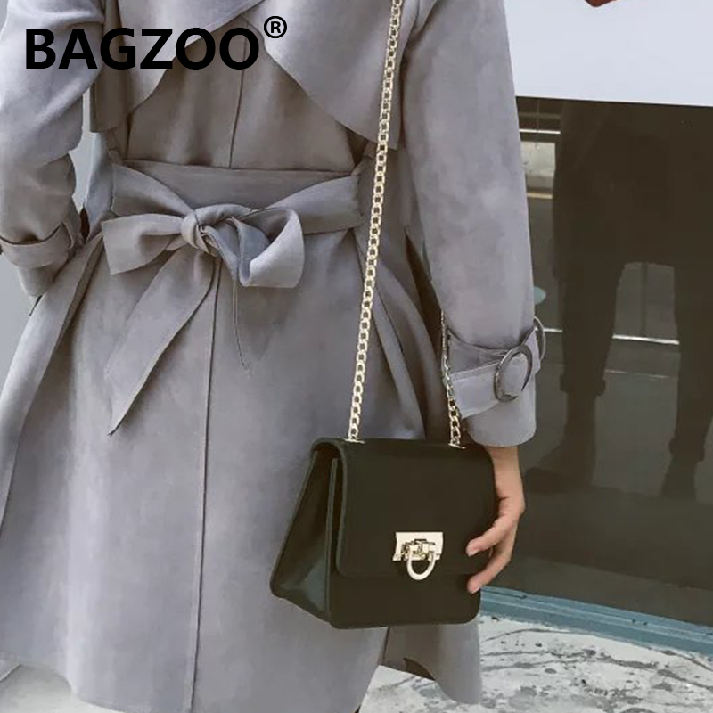 Chain Baggage Girls 2019 New Tide Slant Baggage Chain Baggage Girls Baitao Korean version of small square bag brand Baggage Girls