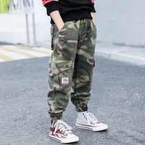 Childrens boy pants spring 2020 new childrens spring camouflage overalls childrens casual pants