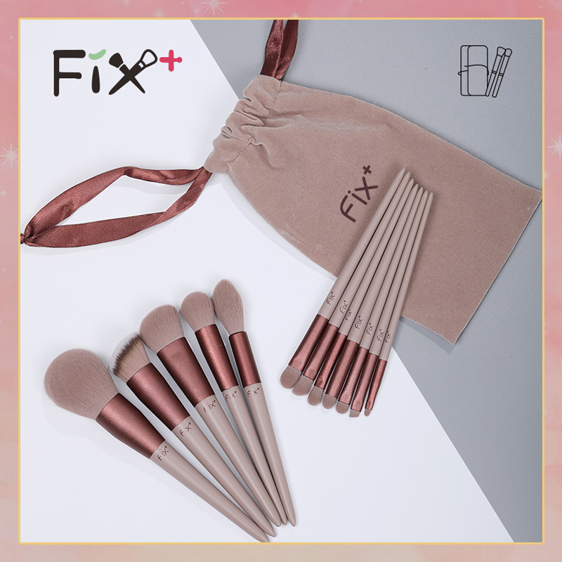 Fix Faith, plus, a set of tools, quick drying makeup brush set, repair powder, brush, blush, nose and soft brush.