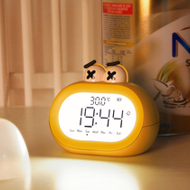 Creative electronic alarm students use smart high volume cartoon clocks to charge silent night light in childrens 牀 head