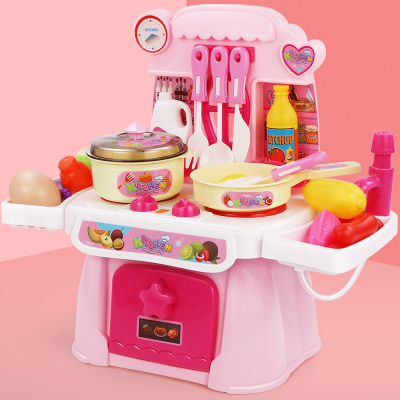 Children's Home-to-Home Simulated Mini Kitchen for Cooking 3 Babies 4 Girls 5 Girls 6 Years Old Cooking Kitchen Set Toys