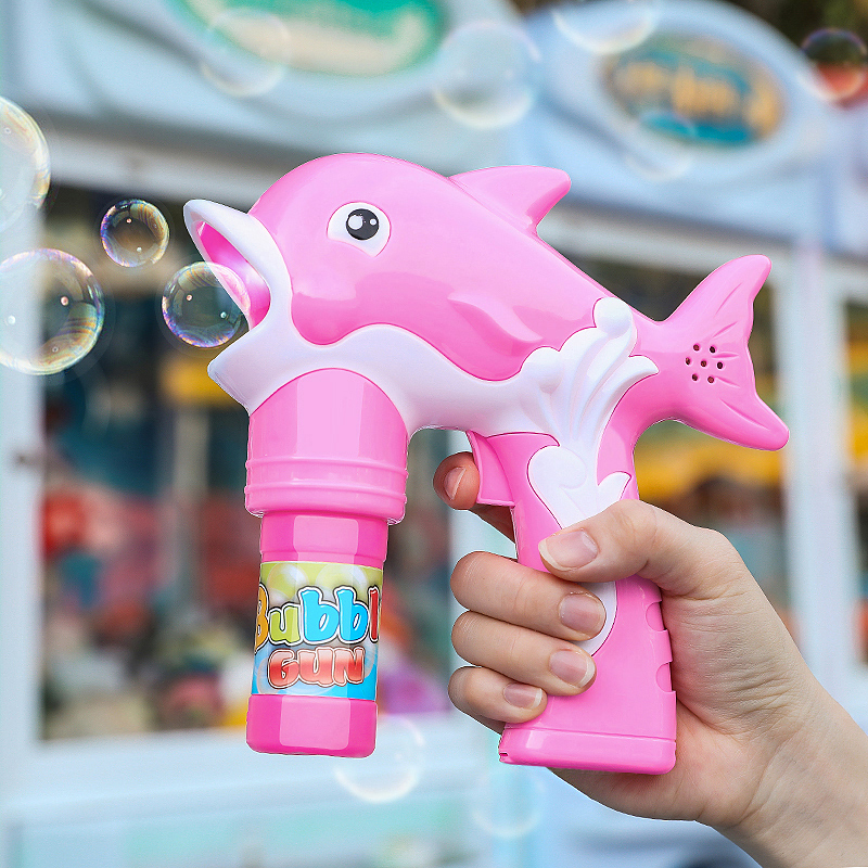 Children's automatic bubble blowing machine bubble water toy bubble gun jitter fairy same type net red girl heart electric