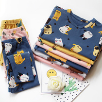 Children cotton underwear set boys and girls autumn clothes autumn and winter baby autumn and winter in the childrens home service warm pajamas