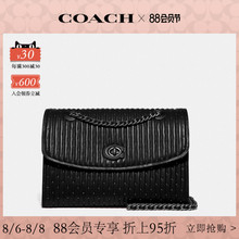 Limited time discount coach / coach women's quilted and riveted Parker Handbag Black