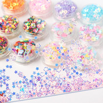 DIY handmade silver background sequins bead garment accessories material pack to make accessories 4mm laser