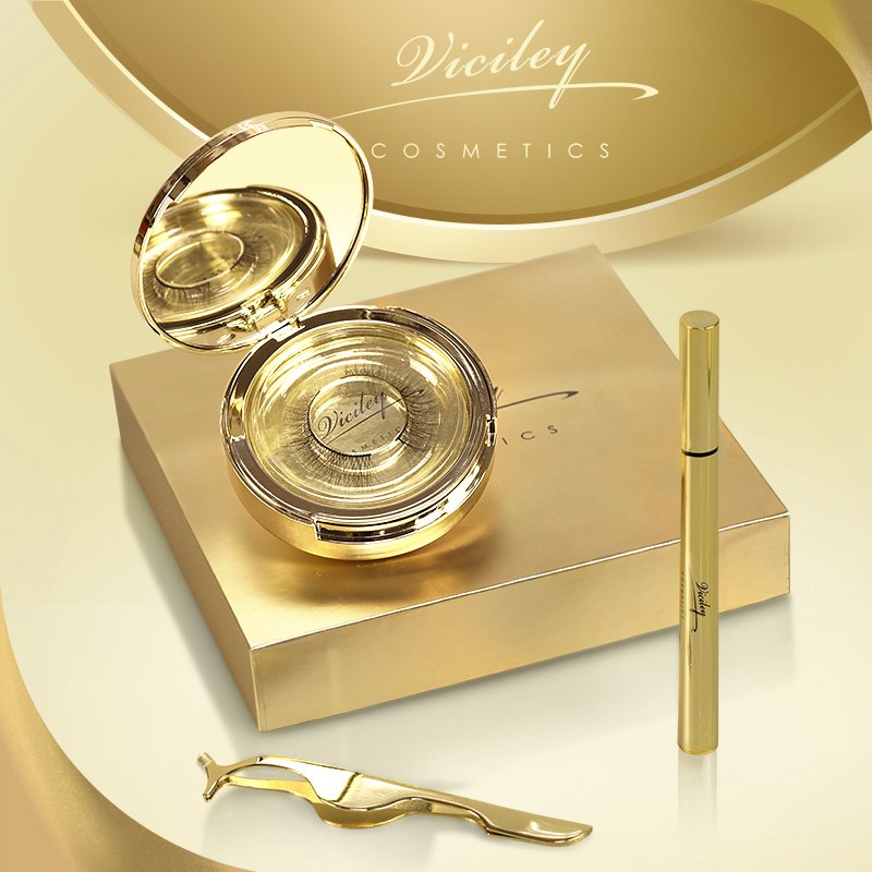 VICILEY lightweight LUXURY EYELINER false eyelashes natural simulation thick, thick handmade quantum free glue magnet.