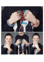 Two dogs natural crystal bracelet Tourmaline and Tianyu bracelet Garnet salt source Agate ring pendant necklace hand string