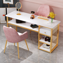 Net red ins Nail art table and chair set Special price Economy nail shop table and chair Light luxury Japanese single double table