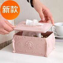 European-style tissue a box home dining room simple living room toilet tray creative lovely box tray tray napkins