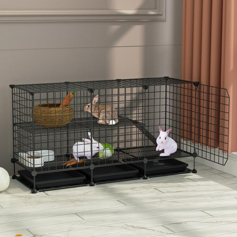Кролик клетка домашних животных кролика поставок кролик гнездо теплой анти-укус бездонный кролик гнездо кролика клетка ноги подушки большой виллы водонепроницаемый