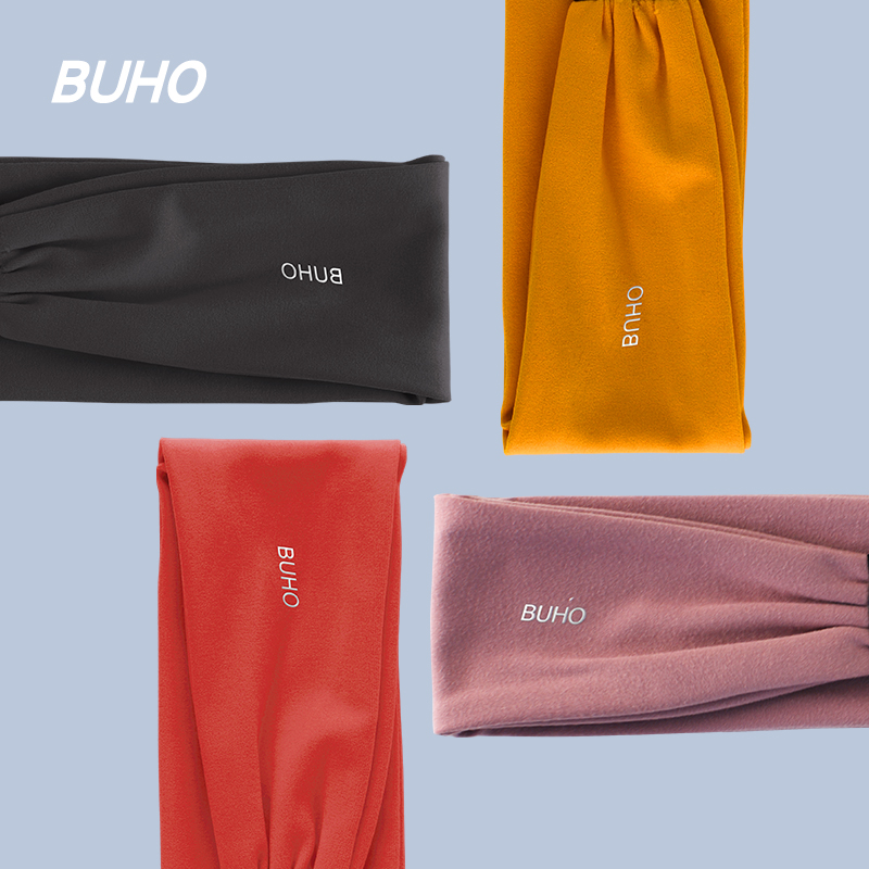BUHO yoga 髮 with exercise to stop sweating forehead running wind protection warm headscarf mens fitness sweat guide belt women