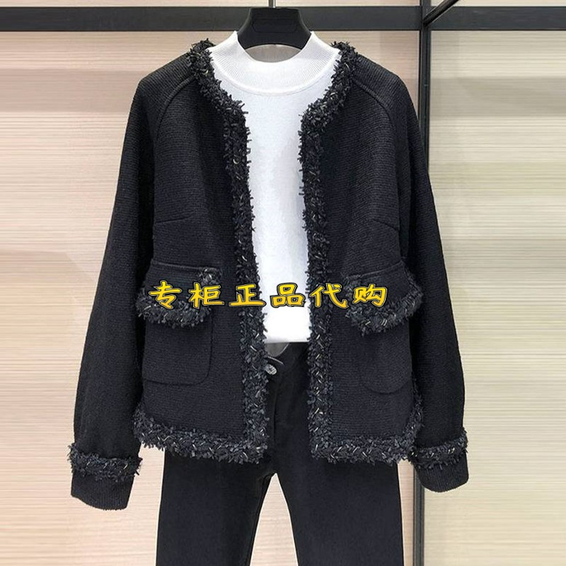 Brother Amash womens official website 2021 spring and autumn new wild loose thick small fragrant wind wool short coat