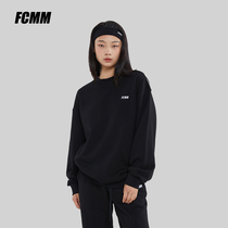 (Live room exclusive) FCMM round neck pointed macaron color sweater set female 2021 New thin couple