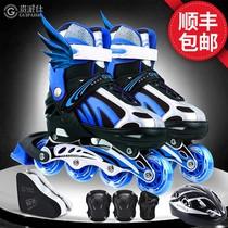 Skates Childrens full outfit roller skates Roller skates Adjustable size size Boys and girls Beginners Adult Professionals
