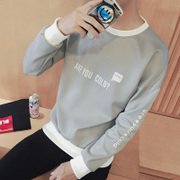 Men's T-shirt long sleeved sweater T-shirt shirt in autumn tide male students loose men's autumn clothes on clothes.
