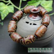 Tibet natural stone agate red agate bracelet three eye genuine on the hands of men and women