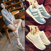 In the autumn of 2017 Korean flat color all-match Harajuku lovers leisure sports shoes female student Agam running shoes tide