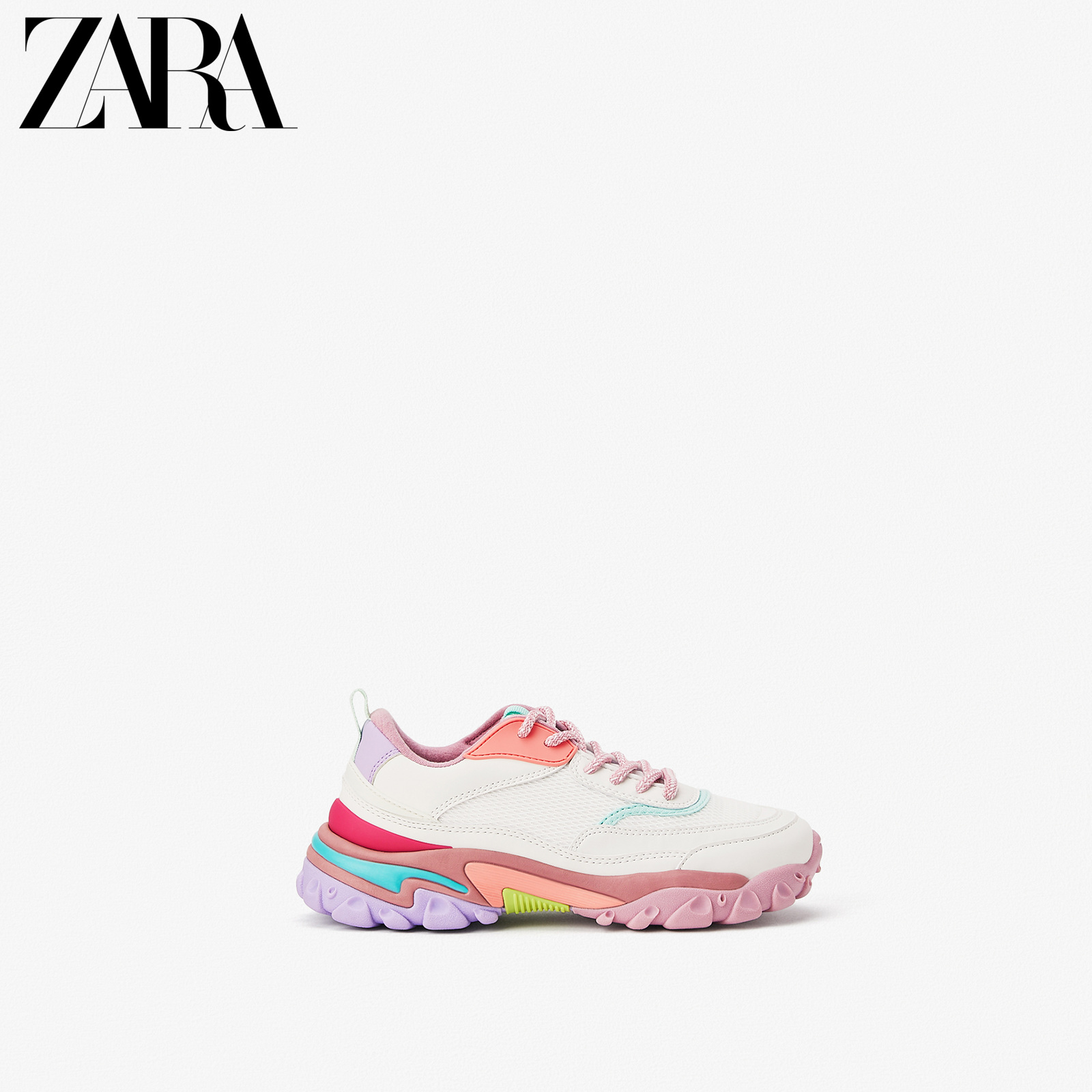 Zara new children's shoes girls' new spring and summer multicolor sole sneaker soft sole 12306530001