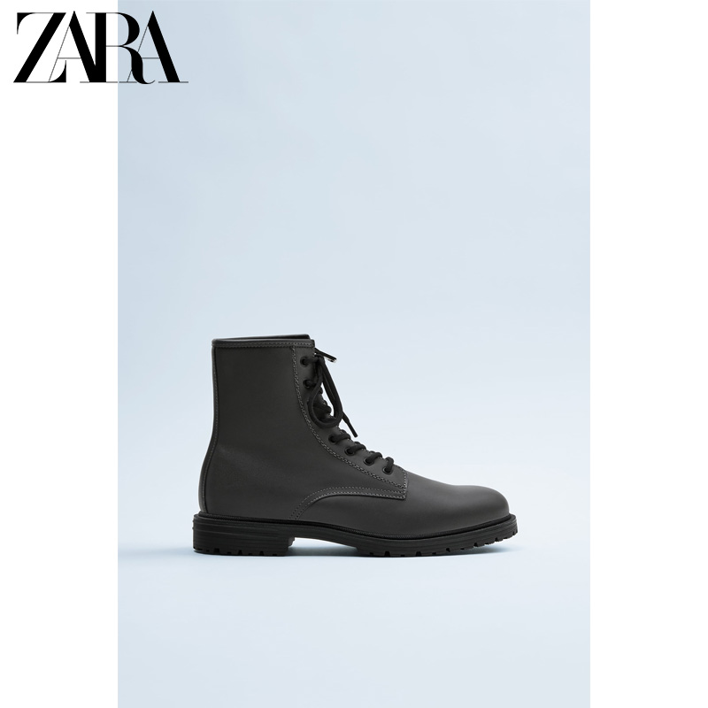 Zara new men's shoes green classic high tube and high assistant tooling Martin boots 12086520500