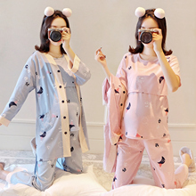 Moon clothing spring autumn pure cotton sweat absorption summer thin postpartum nursing clothing maternal autumn and winter maternity pajamas
