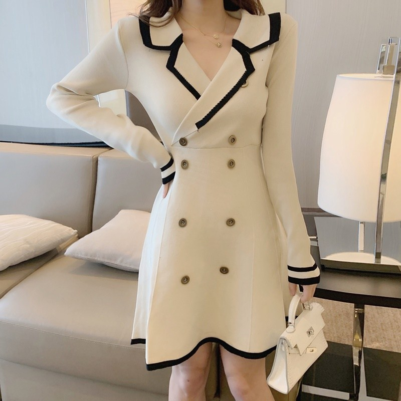 Paris Sandro autumn and winter new small fragrance style slim temperament suit knitted dress womens skirt