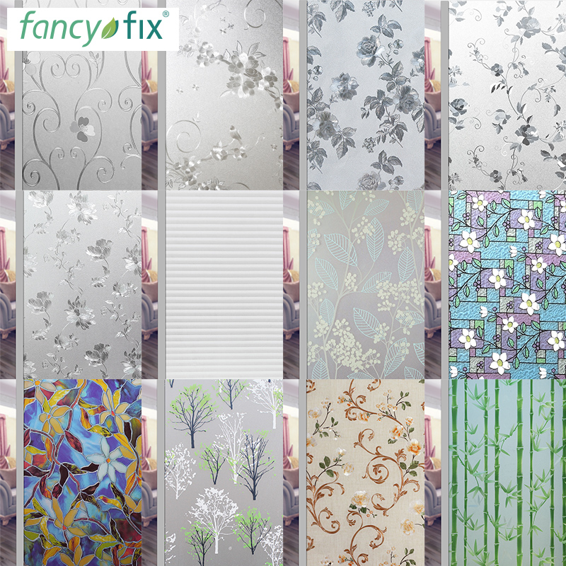 Glue-free window polished glass sticker transparent anti-light bathroom bathroom household anti-peep window decoration paper