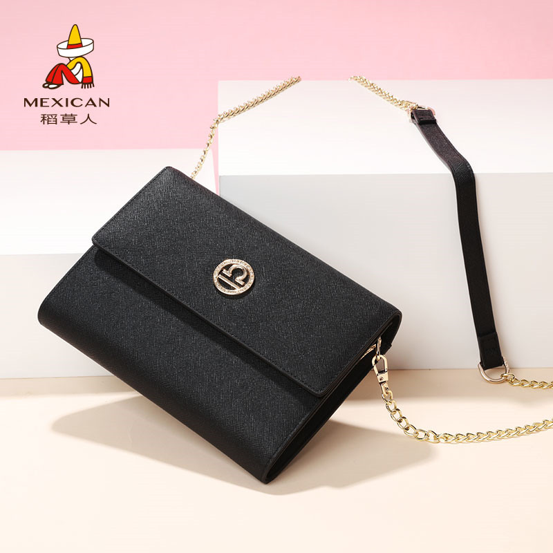 Scarecrow handbag shoulder messenger bag 2018 new fashion clutch bag ladies Korean version of the simple mini bag