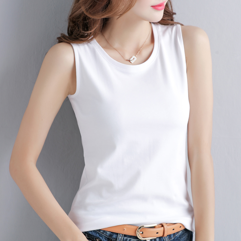 2 pieces of 49 yuan]2021 new spring and summer camisole women wear the base Korean version of the white t-shirt female tide