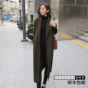 2017 Korean 9a11c Clubman thick warm wool coat female knee thin woolen coat coat