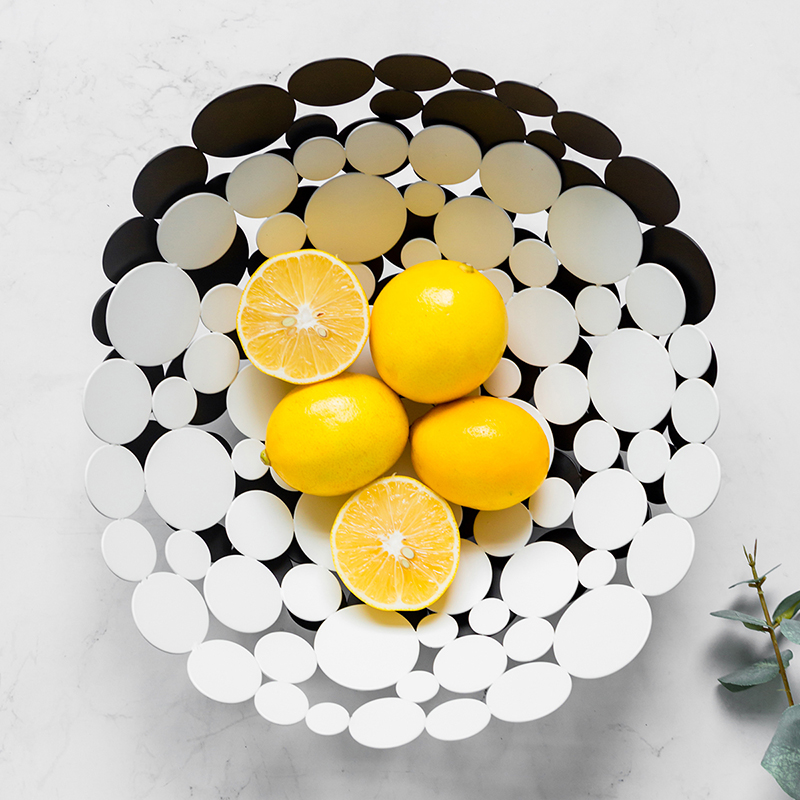 Nordic Luxury Inspiratory Household Candy Snack Plate Fruit Plate Living Room Tea Table Fashionable Individual Creative Tray
