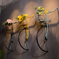 American Industrial Style Retro Creative Iron Bicycle Wall Hanging Bar, Restaurant, Cafe Wall Decoration Hanging Parts