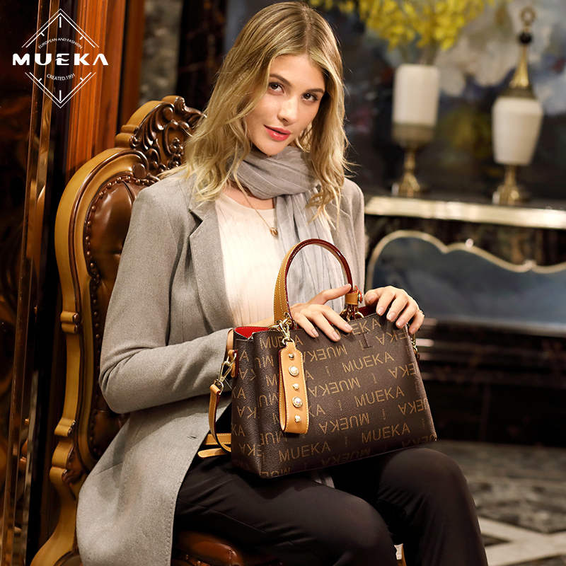 [The goods stop production and no stock]Mueka Baggage Girls 2019 New Brand Baggage Girls'Large Capacity Baggage Girls' Atmospheric Handbag with Oblique Single Shoulder Bag