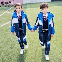 Школьники заряжают школьную форму весной и осенью три комплекта новой детской классной одежды детский сад осенне-зимний костюм