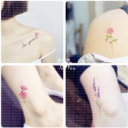 Tattoo stickers waterproof women long South Korea small fresh flowers and plants, leaves, collarbone, ankle and student tattoo stickers