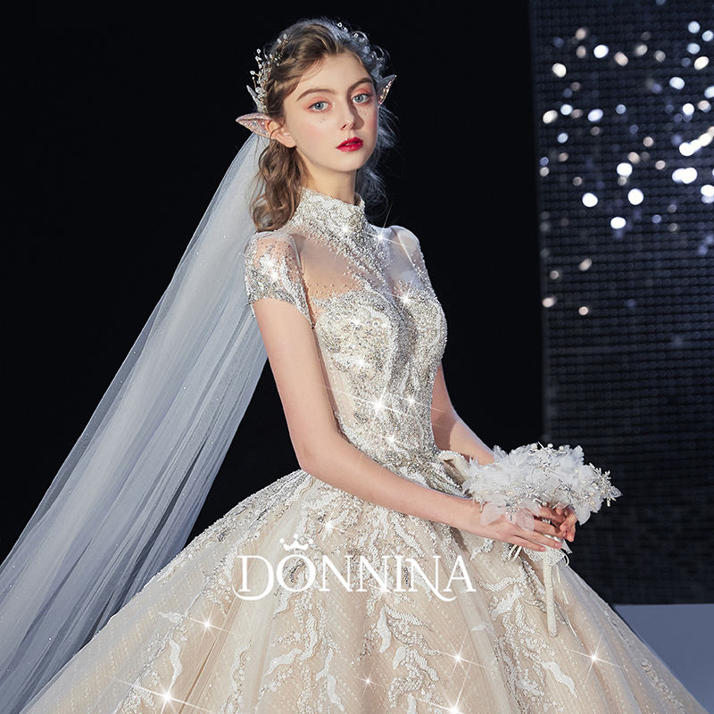 Donna's main wedding dress 2019 new luxury bridal dress luxury super fairy tailed Sen series European dream 2020
