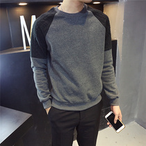 Hong Kong autumn and winter mens round-neck sweater 2019 new youth bottoming shirt Korean fashion trend long-sleeved T-shirt tide