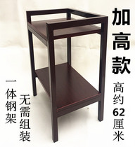 Mahjong machine coffee table plus high thick wood tea rack mahjong table chess room dedicated matching small tea table teapot