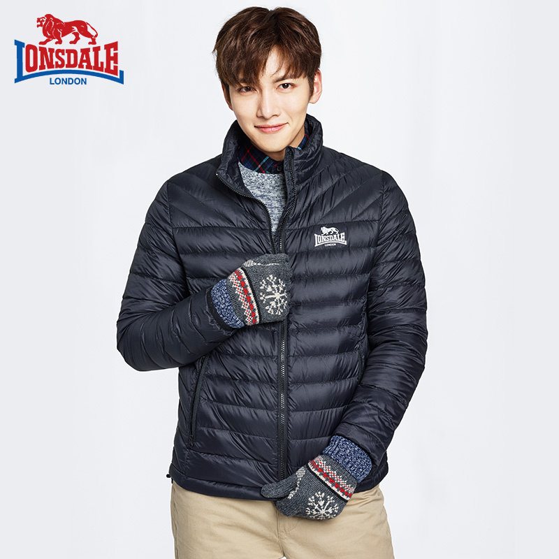 Dragon Lion Dell autumn and winter new men's collar down jacket simple light warm jacket 132321084