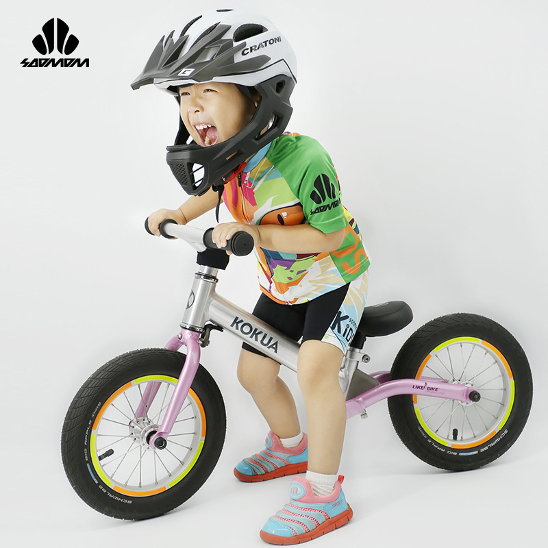 Customized Children's Short-sleeved Cycling Suit of SUMMER Bicycle Balance Bike Racing Suit, Cycling Suit Katie