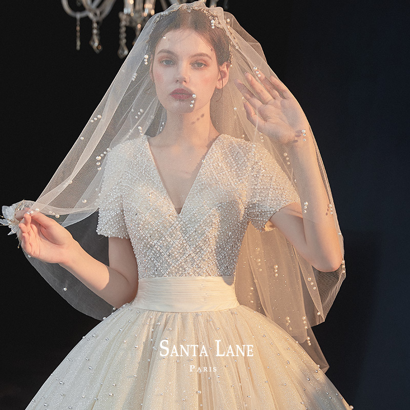 2020 new wedding bride, Sen's super fairy dream, simple and luxurious tiktok, Hepburn's tail.