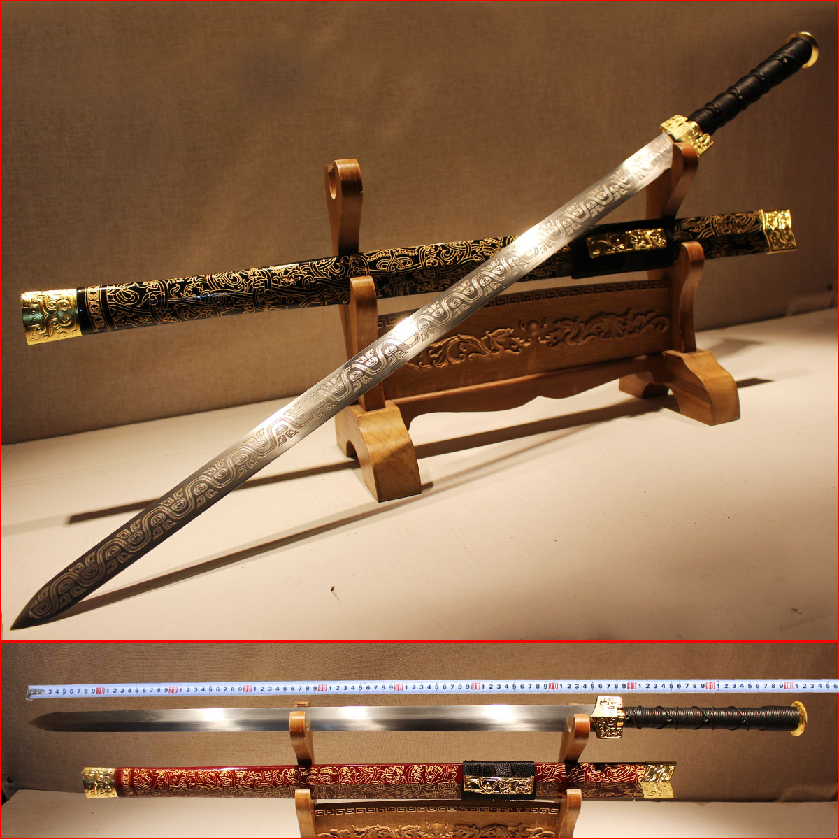 Authentic Sword Hand-made Sword, Han Sword, Long Sword, Hard Sword, Qinjianzhen Residential Sword, Cold Weapon Special Price Unopened