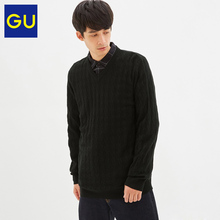 Gu premium men's V-neck T-shirt autumn winter comfortable bottoming pullover with sweater inside slim fit 317412